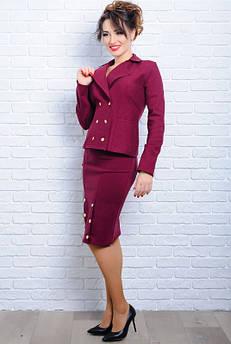 Джинсовые женские костюмы *ЭЛЕГИЯ* бордовый