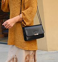 Женская сумка клатч через плечо Jessica Черный, фото 1