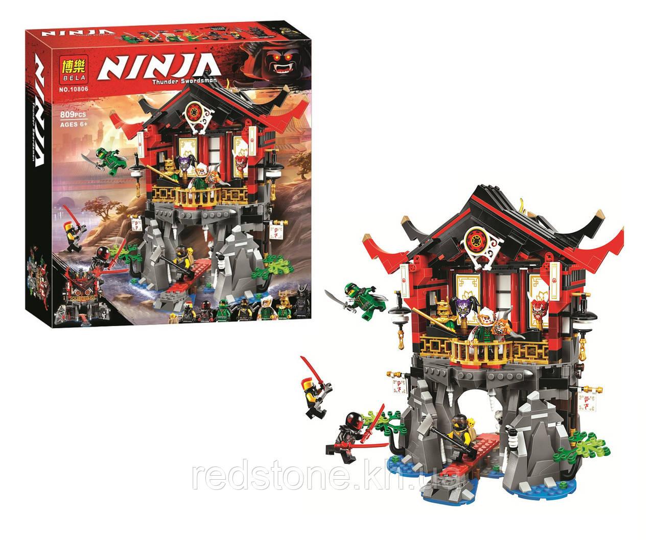 """Конструктор Ninja Bela 10806 (Lego Ninjago 70643) """"Храм воскресения"""", 809 дет."""