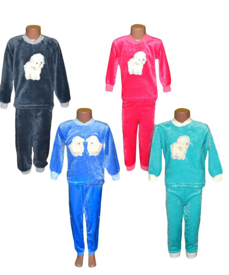 1813f7e9ab7a5 Пижама махровая 01229 Овечка детская, подростковая, с вышивкой р.р. 24-36,  цена 375 грн., купить в Днепре — Prom.ua (ID#392766089)