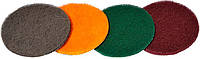 Круги шлифовальные на липучке скотч брайт 125 мм 4 шт MASTERTOOL 08-2501