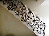 Кованые перила в стиле модерн. Ограждение лестницы Л-5001, фото 2