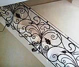 Кованые перила в стиле модерн. Ограждение лестницы Л-5001, фото 5
