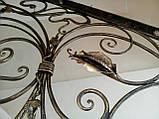 Ковані перила в стилі модерн. Огородження сходів Л-5001, фото 7