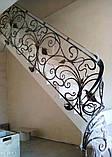 Кованые перила в стиле модерн. Ограждение лестницы Л-5001, фото 9