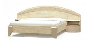 Ліжко з приліжковими тумбами Аляска (дуб сонома \ капучіно)