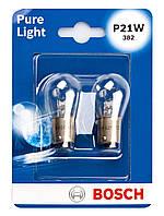 Лампа розжарювання 12V P21W 21W BA15S PURE LIGHT БЛІСТЕР (2ШТ)