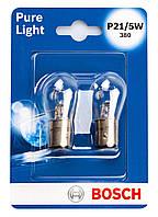Лампа розжарювання 12V P21/5W 21/5W BAY15D PURE LIGHT БЛІСТЕР (2ШТ)
