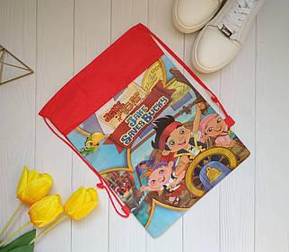 Рюкзак для сменной обуви на затяжке Пират 36*28 см