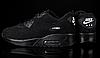 Мужские кроссовки Nike Air Max 90 Black топ реплика