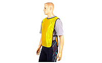 Манишка (накидка) футбольная на резинке CO-4000 (желтый)