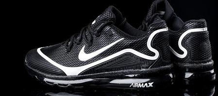 Мужские кроссовки Nike Air Max Elite - 2018 черно - белые топ реплика, фото 2