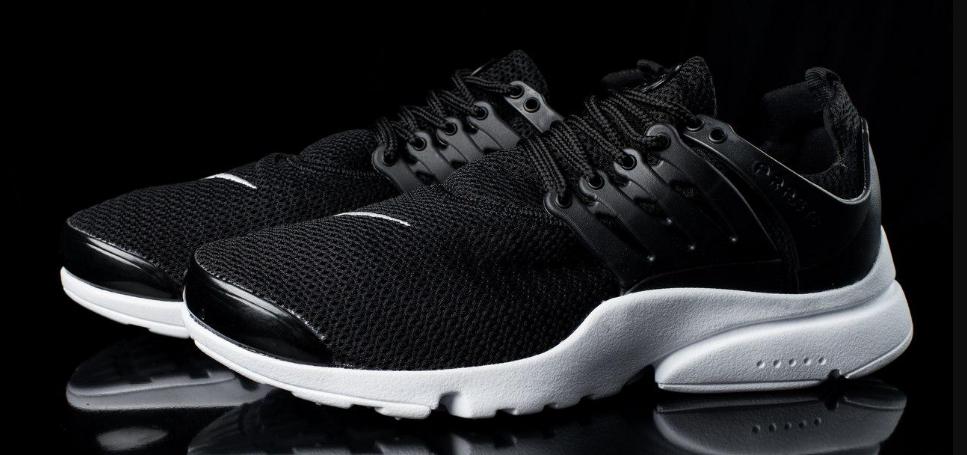 Мужские кроссовки  Nike Air Presto черно-белые топ реплика
