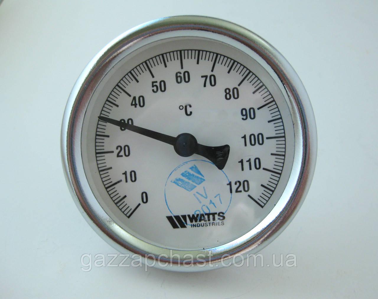 """Термометр биметаллический осевой под погружную гильзу 1/2"""", Ø 63 мм, 0-120ºС (63120)"""