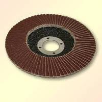 Круг шлифовальный лепестковый торцевой, КЛТ 115х22, зернистость 4Н-80Н(Р24-Р320), БАЗ