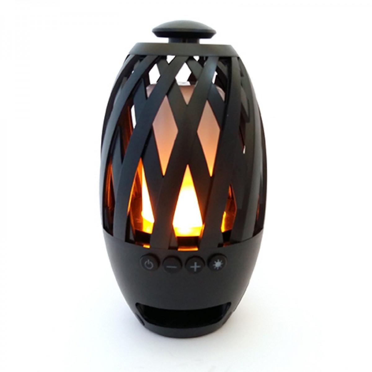 Беспроводная портативная Bluetooth колонка Flame Atmosphere Камин
