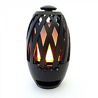 Беспроводная портативная Bluetooth колонка Flame Atmosphere Камин, фото 1