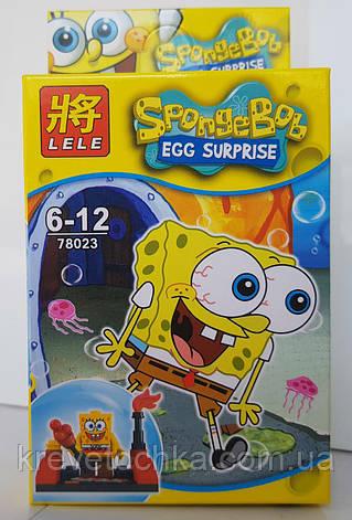 """Лего герои Губка Боб из фильма """"Big HERO""""SpongeBob, фото 2"""