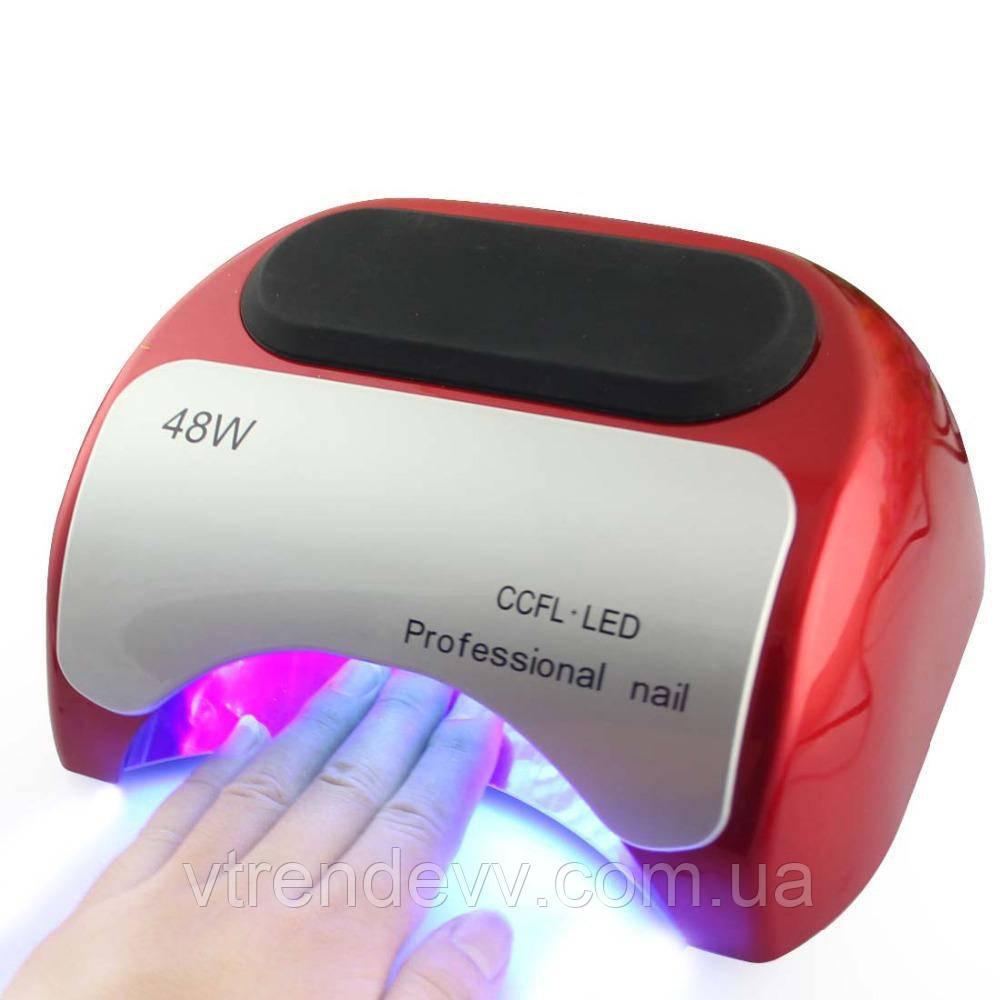 Лампа для гель-лака UV Lamp Professional 48W LED красная
