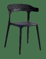 Кресло Papatya Luna-Stripe черное сиденье, верх черный, фото 1