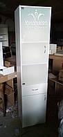 Витрина (шкаф, лаборатория) с матовой дверцей. Модель V259 цвет белый