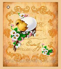 Схема для вышивания бисером Салфетка Радость Пасхи