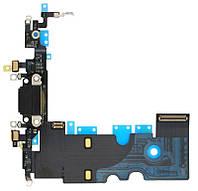 "Шлейф Apple iPhone 8 (4.7"") коннектор зарядки, мікрофон ( Black) Original"