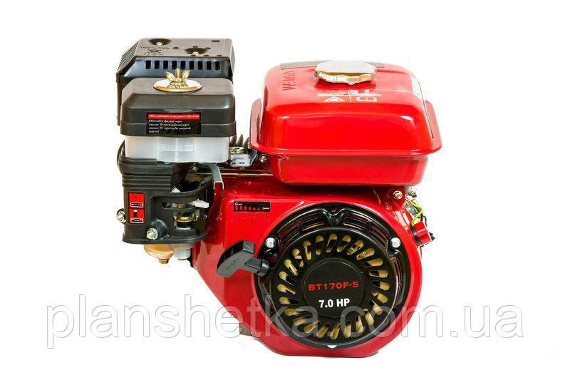 Двигатель бензиновый Weima BT170F-S2Р (шпонка, вал 20 мм,шкив на 2 ручья 76 мм), 7.0 л.с.