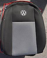Авточехлы VIP VW Caddy 2010→ (7 мест) автомобильные модельные чехлы на для сиденья сидений салона VOLKSWAGEN Фольксваген VW Caddy