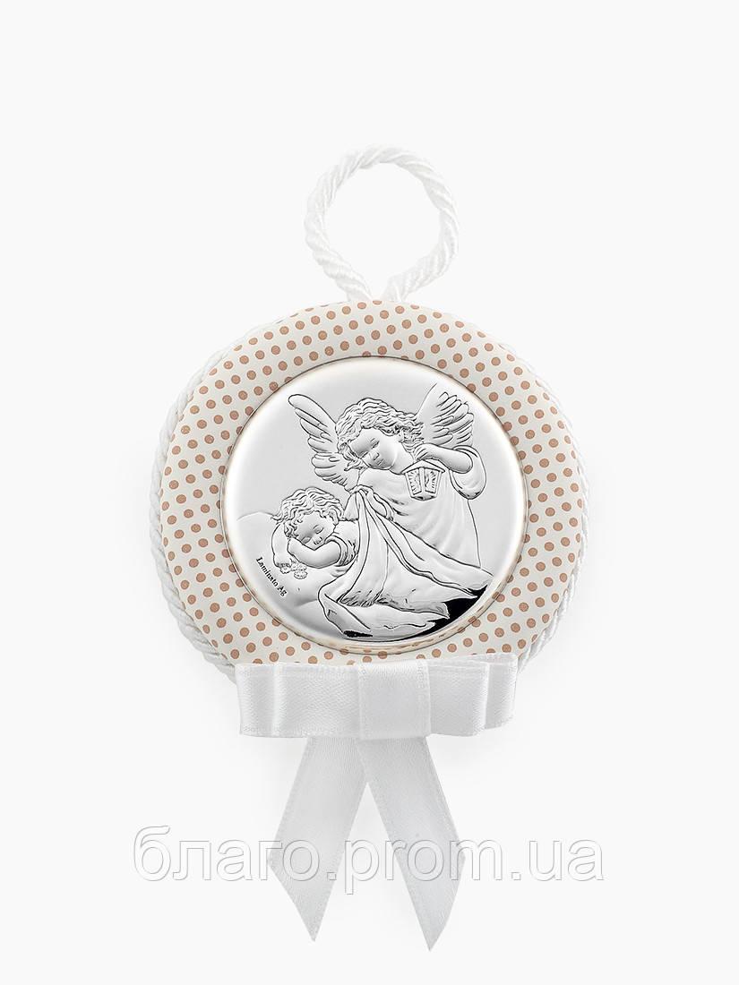 Серебряная икона детская Ангелочек