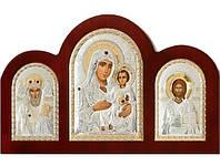 Складень триптих с Богородицей Иерусалимской