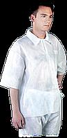 Блуза BFI W медицинская рабочая белая REIS Польша (спецодежда для химической и пищевой промышленности)