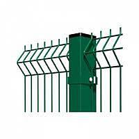 Забор секция ДУОС  СТАНДАРТ КОЛОР  (оц.+ полимер RAL6005)2,43 м/2,5м