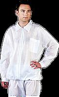 Блуза BFILS W рабочая для лабораторий белая REIS Польша (медицинская форма для лабораторий)
