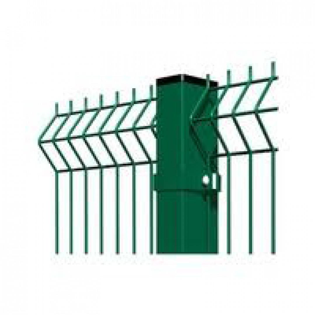 Забор секция ЭКО КОЛОР  (оц.+ полимер RAL6005)1,5 м/2,5м