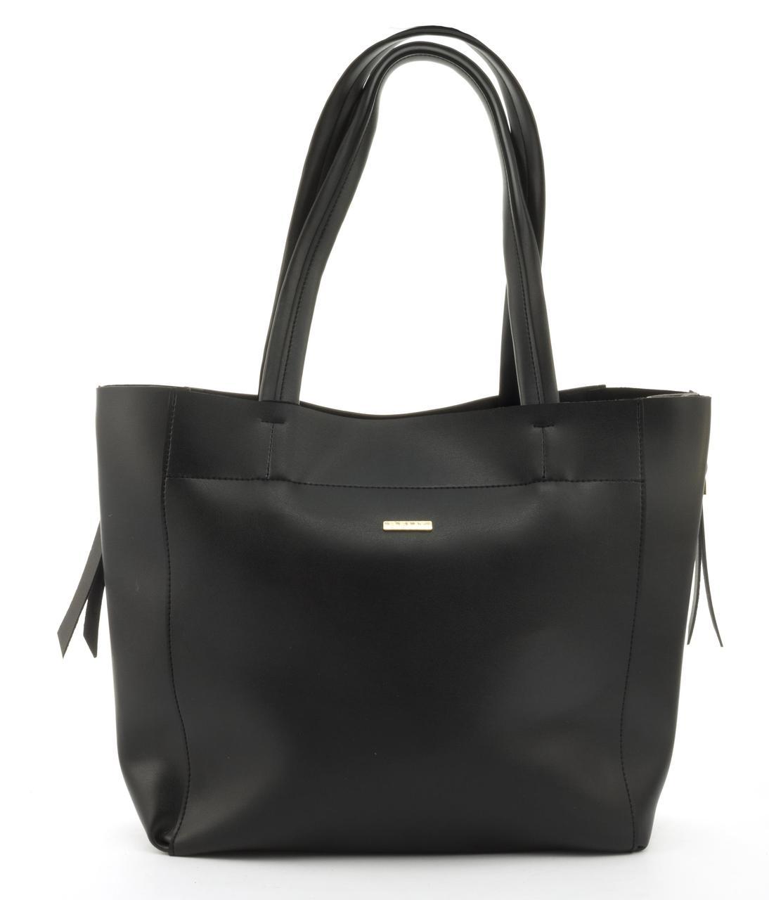 Оригинальная вместительная сумка высокого качества с расширенеием по бокам B.Elite art. 07-82 черн/серебро