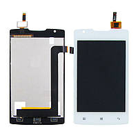 Дисплей для LENOVO A1000 с белым тачскрином (смартфон) (ID:10551)