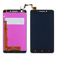 Дисплей для LENOVO A5000 (смартфон) с чёрным тачскрином (ID:9756)
