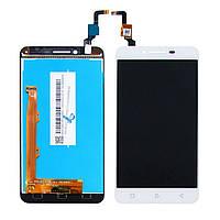 Дисплей для LENOVO A6020a40 Vibe K5 с белым тачскрином (ID:13352)