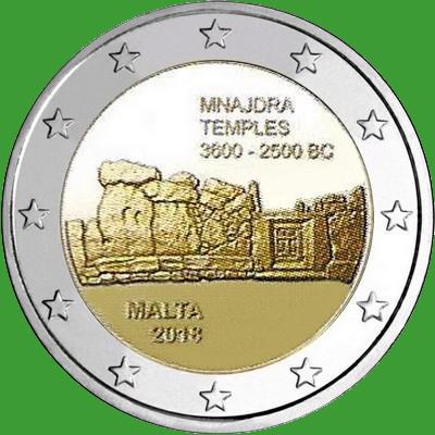 Мальта 2 евро 2018 г. Мнайдра. UNC.