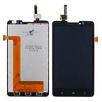 Дисплей для LENOVO P780 с чёрным тачскрином (ID:7018)