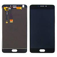 Дисплей для MEIZU M5 Note с чёрным тачскрином (ID:11864)