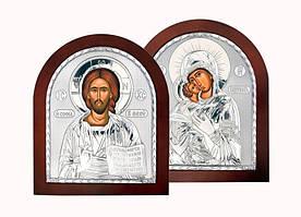 Венчальные иконы серебряные