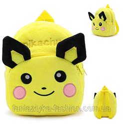 Рюкзак детский плюшевый Покемон Пикачу (Pokemon Pikachu)