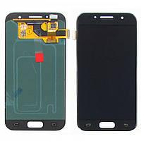 Дисплей для SAMSUNG A320 Galaxy A3 (2017) с чёрным тачскрином оригинал (ID:13204)