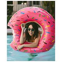 Надувные круги для пляжа и бассейна -Надкушенный  Пончик -