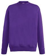 Мужской лёгкий свитер Фиолетовый  Fruit Of The Loom  62-156- Pe  Xxl