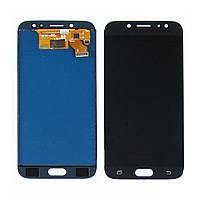 Дисплей для SAMSUNG J730 Galaxy J7 (2017) с чёрным тачскрином, с регулируемой подсветкой (ID:14847)