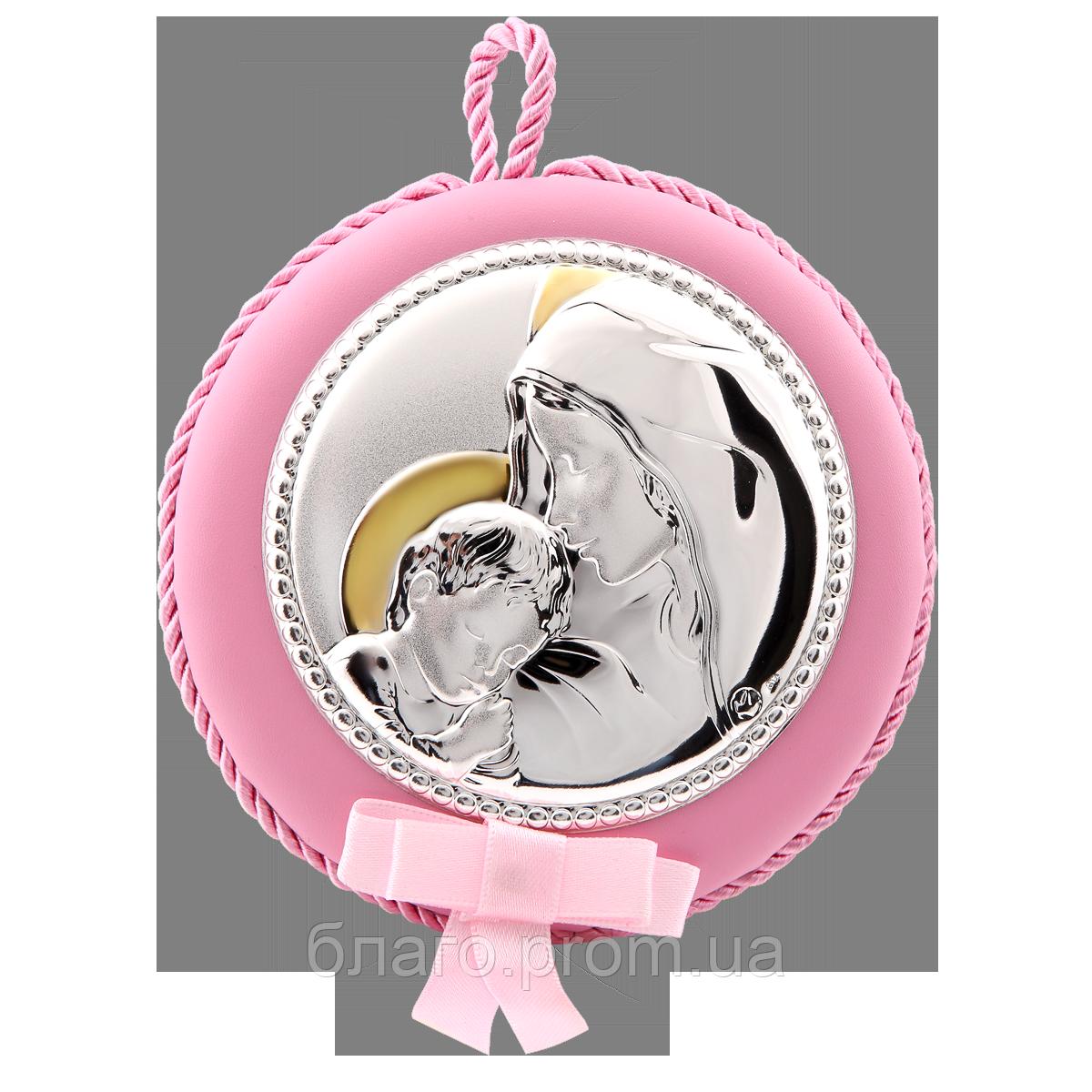 Серебряная икона с позолотой Мария с младенцем