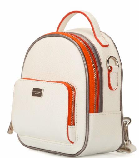 Женский мини рюкзак David jones CM 3790 White mini